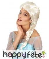 Perruque blonde de Reine des glaces pour adulte