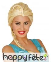 Perruque blonde de reine des glaces pour femme