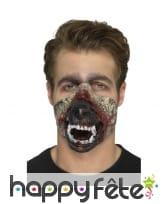 Prothèse bouche de loup garou en mousse de latex, image 2