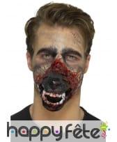 Prothèse bouche de loup garou en mousse de latex, image 4