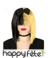 Perruque blonde et noire de Sia pour femme