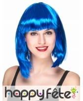 Perruque bleue glamour mi-longue
