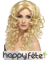 Perruque boucles glamour blonde