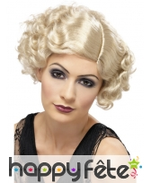 Perruque blonde jeune fille années 20