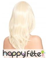 Perruque blonde lisse mi-longue, luxe, image 1