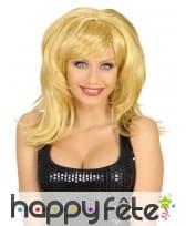 Perruque blonde mi-longue années 60
