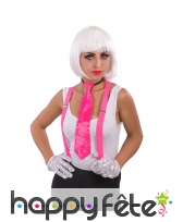 Perruque blanche phosphorescente de cabaret, image 1
