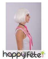 Perruque blanche phosphorescente de cabaret, image 2