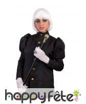 Perruque blanche phosphorescente de cabaret, image 3