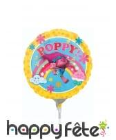 Petit ballon Poppy Trolls de 23cm en aluminium