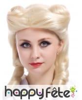 Perruque blonde rétro boucles anglaises, image 1
