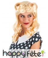 Perruque blonde rétro boucles anglaises