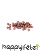 Petites boules roses dorées décoratives de 8mm