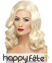 Perruque blonde style années 20