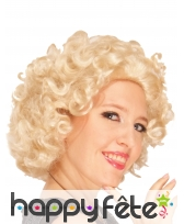 Perruque blonde style Marilyn, image 1