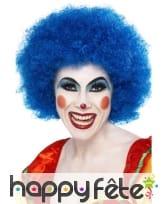 Perruque clown bleue