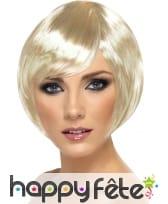 Perruque carré droit blonde
