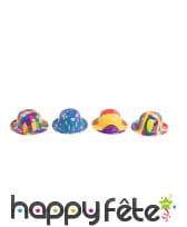Petit chapeau de clown coloré, aléatoire