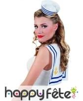 Petit chapeau de marin blanc et bleu, image 2