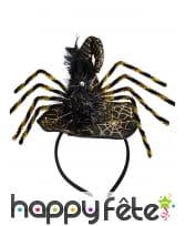 Petit chapeau de sorcière noir en forme d'araignée, image 1