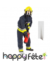 Pompier combinaison de feu taille réelle