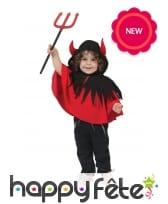 Poncho cape de diable pour bébé