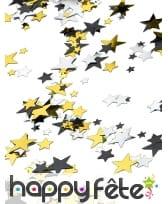 Petites confettis en forme d'étoile