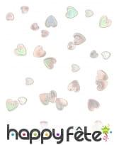 Petits confettis en forme de coeurs métallisés, image 4