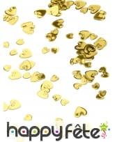 Petits confettis en forme de coeurs métallisés, image 5