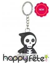Porte clé faucheuse squelette