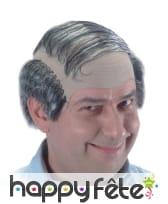 Perruque cheveux gris et dégarnie