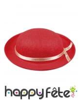 Petit chapeau melon rouge pour adulte, image 1