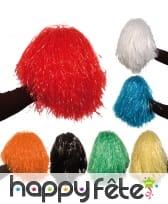 Pompon coloris métallique