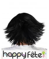 Perruque Cosplay noire courte pour adulte, image 3