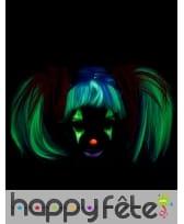 Perruque couettes, phosphorescente pour enfant, image 1