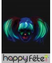 Perruque couettes, phosphorescente pour enfant, image 5