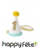 Petit chapeau pointu d'anniversaire 1 an pour bébé