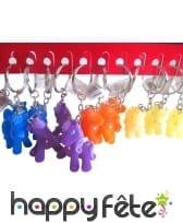 Porte clé petit poney coloré
