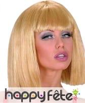 Perruque cabaret sexy blonde