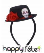Petit chapeau serre tete noir Dia de los muertos