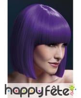 Perruque carré violet, frange. 30 cm