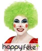 Perruque clown verte