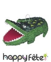 Pinata crocodile vert