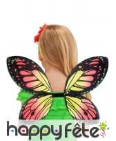 Paire d'ailes de papillon coloré pour enfant, image 2