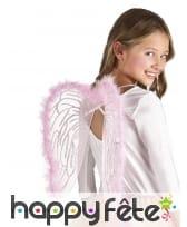 Paire d'ailes roses de 40x33cm pour enfant