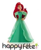Personnage d'Ariel en robe verte de 8cm