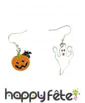Paire de boucles d'oreille Halloween assorties