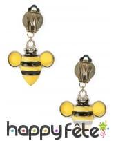 Paire de boucles d'oreilles abeilles