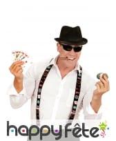 Paire de bretelles motifs poker