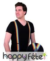Paire de bretelles multicolores